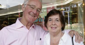 Actor Frank Kelly and his wife Bairbre. Photograph: Brenda Fitzsimmons/The Irish Times