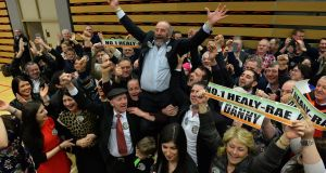 Danny Healy-Rae and his brother Michael (on the floor ) are in fine form as Danny claimed the second seat in Kerry.