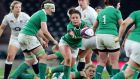 Ireland's Larissa Muldoon in action during against England at Twickenham: Ireland were unable to hold on to their 9-8 lead. Photograph: Gareth Fuller/PA