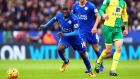 Leicester City's N'golo Kante was injured against Norwich