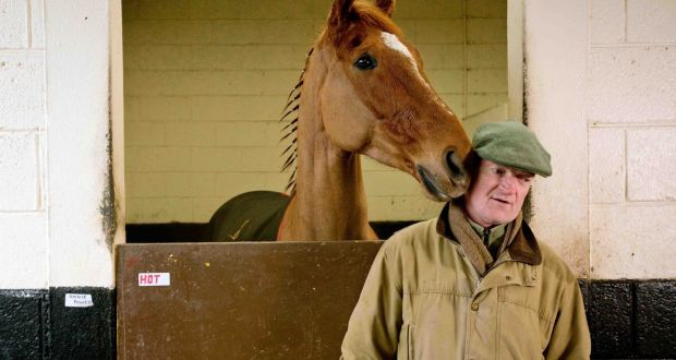 75a9d35997a6 Trainer Willie Mullins with Annie Power on a stable visit to Closutton  ahead of the Cheltenham