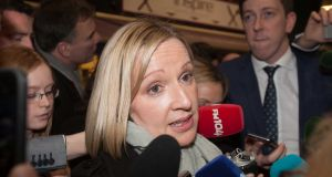 Former Renua TD  Lucinda Creighton at the RDS count centre. She has been reflecting on the toll politics can take on family and finances after clearing out her Dáil office.   Photograph: Gareth Chaney/ Collins.