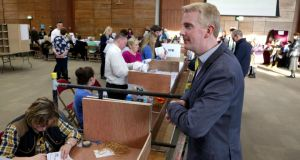 Derek Nolan: The Labour Party candidate seen here at the Galway West count has few regrets, he says.  Photograph: Joe O'Shaughnessy.