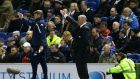 Leeds United boss Steve Evans has been instructed not to speak to the media after Monday night's defeat to Brighton. Photograph: PA