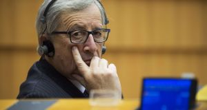 EU Commission chief Jean-Claude Juncker.  While technically the union can trundle on and is not obliged to respond to the vagaries of general elections, the anti-establishment vote is, in part, an expression of frustration at EU as well as national elites.   AFP PHOTO / JOHN THYSJOHN THYS/AFP/Getty Images