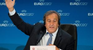 Michel Platini has taken his appeal against his ban from football to the Court of Arbitration for Sport. Photograph: PA