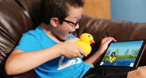 Edwin the duck is an interactive toy, bath thermometer as well as a night light.