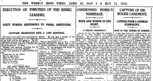 Newspaper coverage of the Rising