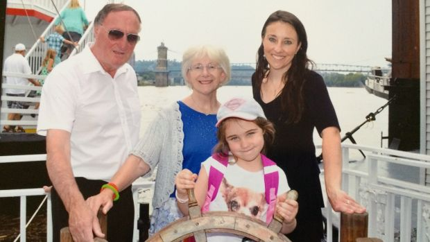 Orla Bowman with her father Anthony Keyes, mother Rita and daughter Eva (5)
