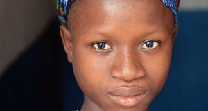 Rashidatu Sesay age 15, her baby died two weeks previously. Bonthe, Sierra Leone.Photograph: Brenda Fitzsimons