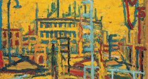 Mornington Crescent Summer Morning (1966), by Frank Auerbach