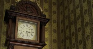 The clock, which is more than 9ft tall,  plays 'God Save the Queen' and other tunes not yet identified