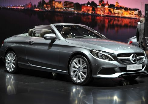 The new Mercedes-Benz C-Class coupe convertible was one of the highlights of this year's show