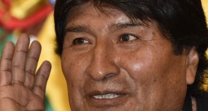 Bolivian president Evo Morales. Photograph: Aizar Raldes/AFP/Getty Images