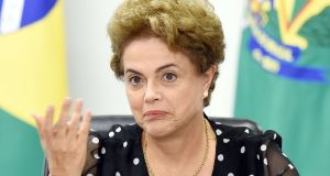 Brazilian president Dilma Rousseff: embroiled in Petrobras scandal. Photograph: Evaristo Saevaristo AFP/Getty Images