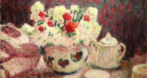 'Nature Morte – Flowers on a Table', by Roderic O'Conor, was painted in Paris in 1910