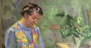 Detail of 'The Housekeeper', by William Leech, which  is being sold from a private collection