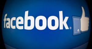 Photo shows the splash page for the Internet social media giant Facebook. Photograph: Karen Bleierkaren/Getty