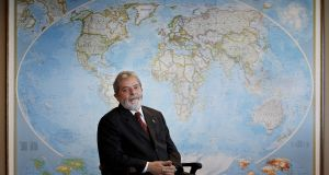 Then president Luiz Inacio Lula da Silva of Brazil in his office in the Palacio do Planalto, in Brasilia in 2007.  Photograph: Lalo de Almeida/The New York Times