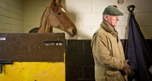 Annie Power and trainer Willie Mullins pictured last week in Bagenalstown, Co Carlow. Photograph:  Morgan Treacy/Inpho