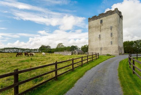 <b>Tunrin Castle, Kilmaine, Co Mayo</b> Sleeping 12 in five bedrooms, this castle was built by the De Burgos in medieval times. Derelict for 250 years, it was renovated in 1997 and now offers exclusive rental for small gatherings – the dining hall can accommodate 25.