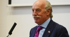 Dermot Desmond: has  biometrics firm Daon was among the best investments he has made. Photograph: Cyril Byrne/The Irish Times
