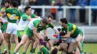 Kerry and Donegal players clash during their Allianz League Division One match at Austin Stack Park in Tralee. Photo: Cathal Noonan/Inpho