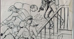 A drawing by Constance Markievicz from about 1921, which will be published in Constance Markievicz Journal 1916