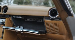 Nicolae Ceausescu's Mercedes-Benz 350 SL features technology from the infamous Securitate built into the glove compartment.