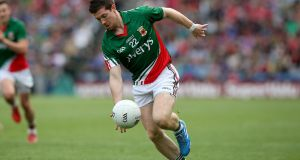 Enda Varley, in action here for Mayo will line out for St Vincent's in 2016. Photograph: Donall Farmer/Inpho