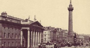 Nelson's Pillar on Sackville Street, now O'Connell Street.