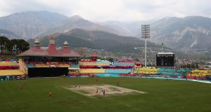 A general view of the HPCA Stadium during the Twenty20 World Cup warm-up match between Ireland and Zimbabwe in Dharamsala, India. Photograph: Getty Images