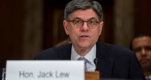 US Treasury secretary Jack Lew. Photograph: Zach Gibson/The New York Times