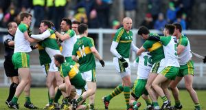 One of several unseemly incidents between Kerry and Donegal players during last weekend's clash at Austin Stack Park in Tralee. Photograph: Cathal Noonan/Inpho