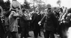 Gathering support: Andrew Bonar Law at a unionist gathering at Blenheim.