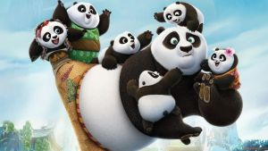Hi-ya! Po and cubs in Kung-Fu Panda 3