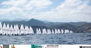 Competitors at the European Lazer Championships in Gran Canaria.