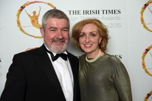 Nominee  Denis Conway and his wife, Elaine Sisson. Photograph: Bryan Meade