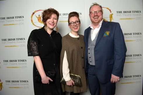 Theatre producer Lara Hickey with Claire O'Neill and Cian O'Brien of Project Arts Centre. Photograph: Bryan Meade