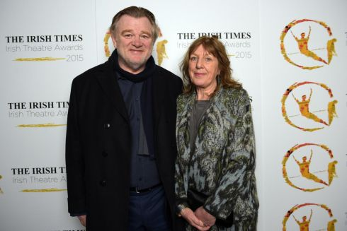 Brendan Gleeson with his wife, Mary. Photograph: Bryan Meade