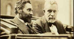 "Roger Casement and John Devoy. The Clan Na Gael wrote ""the serial and ill informed men who write the editorials have been airing their ignorance this week over 'riots started by a Sinn Féin mob in Dublin'."""