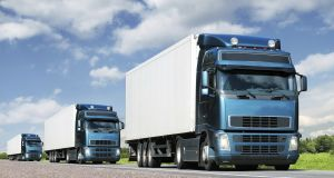 Driving trucks close together is not only safer but also more fuel efficient, according to industry estimates