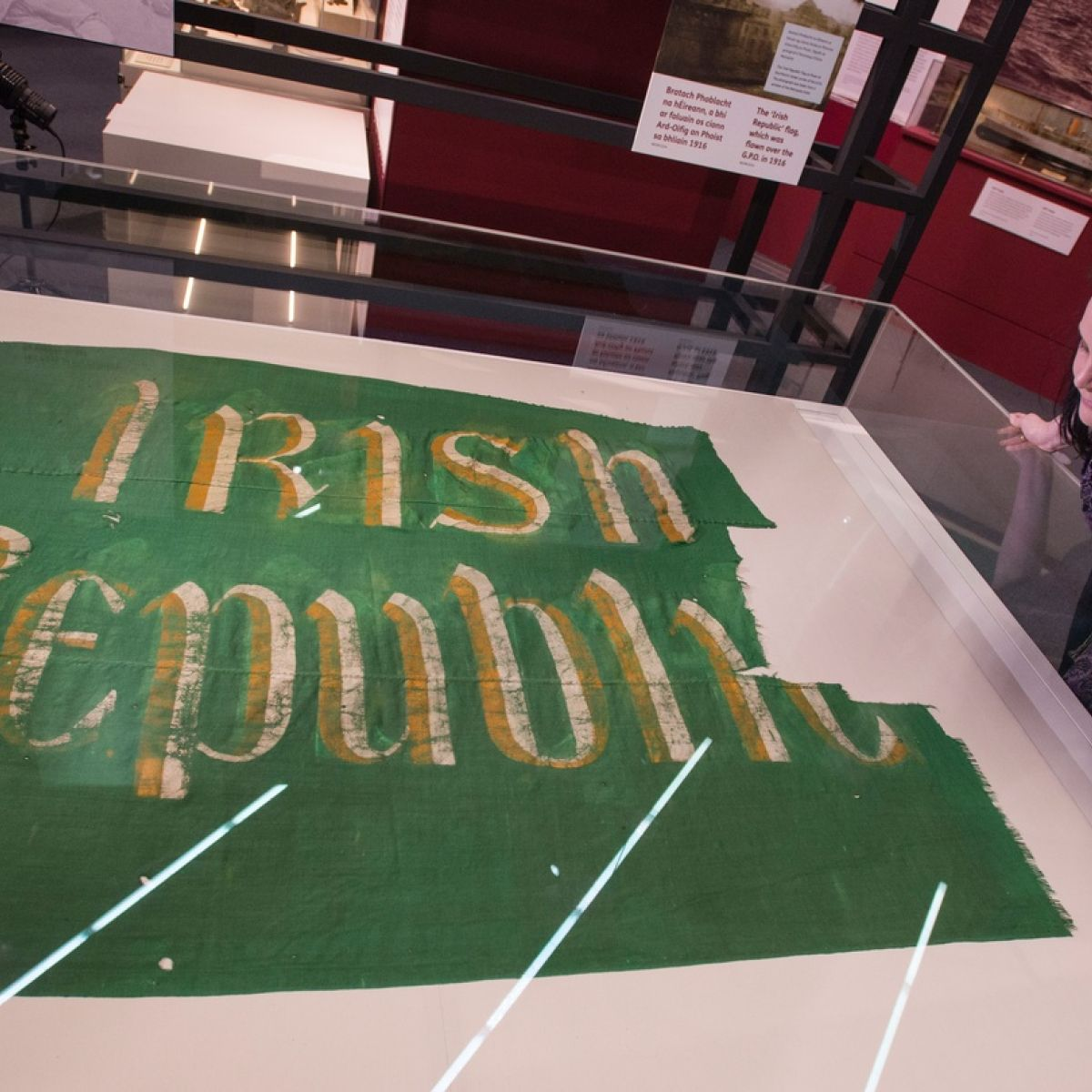 Rising from the ashes   Irish Republic  flag on display 2573357adf0e