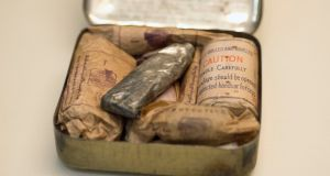 A first-aid kit at the Proclaiming a Republic 1916 exhibition at Collins Barracks in Dublin. Photograph: Dave Meehan/The Irish Times