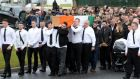 The funeral of dissident republican Vincent Ryan in Donaghmede, Dublin.