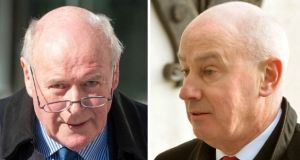 Former Anglo Irish Bank company secretary Bernard Daly (left) and former chief operations officer Tiarnan O'Mahoney. Photographs: Collins Courts/Irish Times