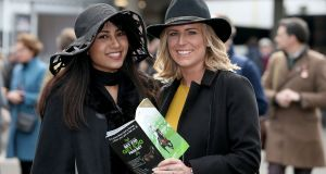 Racegoers at  Cheltenham. Photograph: Inpho