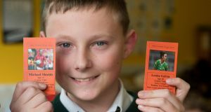 Kamil Styrczula of St Colman's Boys National School, Macroom, Co Cork, which came up with the idea of GAA player collector cards. Photograph: Jerry Kennelly