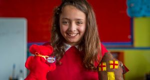 Alanna Aristotelous of Clooncagh National School, Co Roscommon, which came up with the idea for Sweetie Teddiz. Photograph: Jerry Kennelly