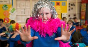 Maddie Stronge of Lisnasharragh Primary School, Belfast, which came up with the idea for Chance to Dance. Photograph: Jerry Kennelly